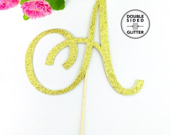 Single Letter Wedding Cake Topper, Monogram cake topper, initial cake topper, single letter cake topper, wedding cake topper.