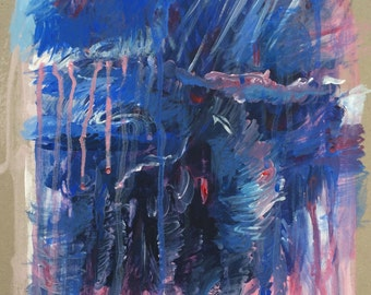 DELUGE. Abstract landscape painting to buy from the artist. Only one of its kind available.
