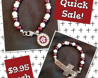 Texas A&M Charm Bracelet