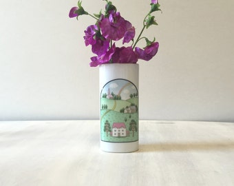 Vintage japanese vase, vintage vase, Japanese flower vase, vintage japan vase, porcelain vase, vintage flower vase, made in japan, retro