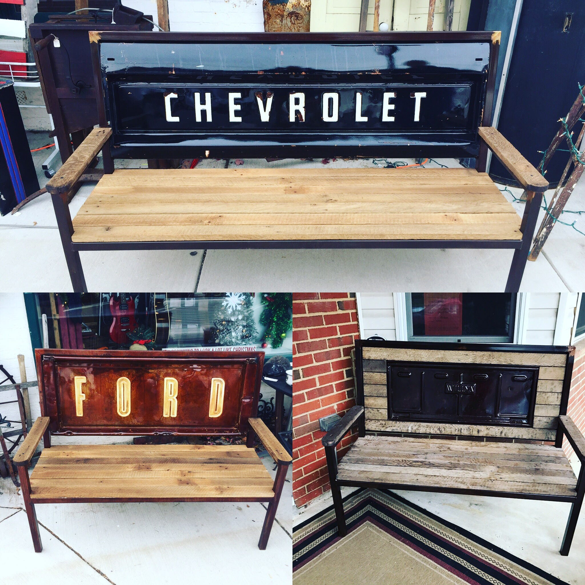 Vintage Truck Tailgate Bench