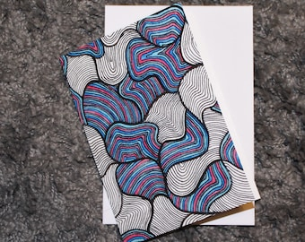 "Folded Card ""Lines 06"""