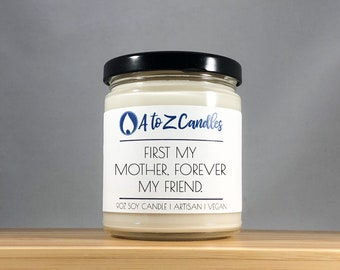 Mother Friend Gift for Mom Mom Candle Gift for Mother Mother's Day Gift, Customized Candle Personalized Candle, Scented Candle Gifts for Mom