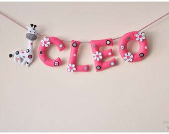 Felt name banner unicorn nursery decor personalized gift felt name banner nursery decor personalized gift felt letters baby gift child room baby name garland custom felt name made to order negle Images