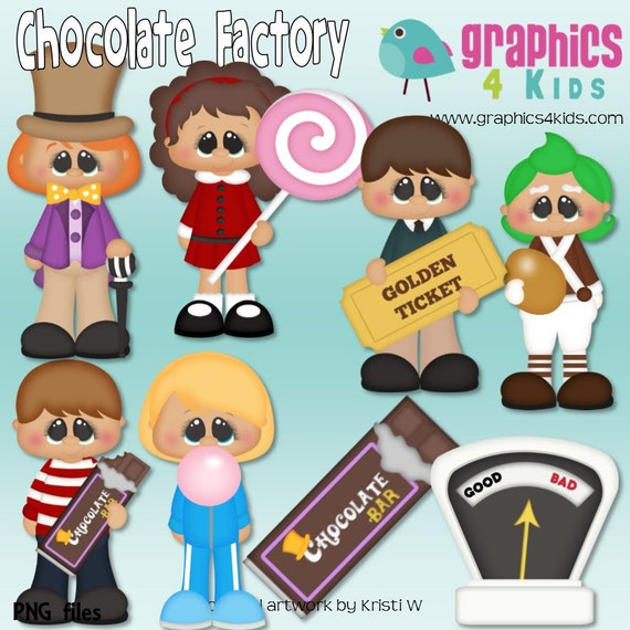 chocolate factory willy wonka digital clipart clip art for rh etsystudio com Willy Wonka Hat willy wonka and the chocolate factory clip art