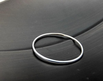 Barely There Ring, Sterling Silver Ring, Thin Ring, Knuckle Ring, Stacking Ring, Stackable Ring, Minimalist Ring, Halo Ring, Silver Ring