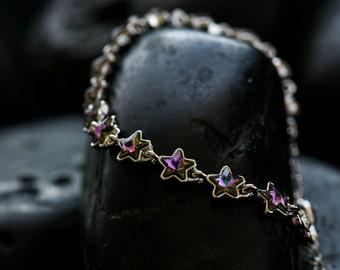Mystical Crystal Stars - Swarovski crystal bracelet finishe in lustrous rhodium