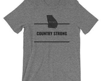 Georgia T-Shirt - Country Strong, Georgia State Love, Georgia Home