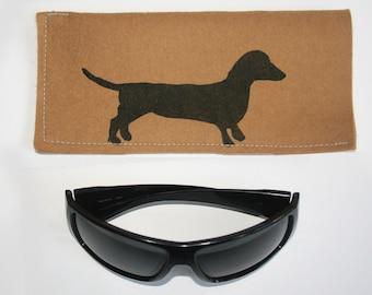Dachshund Felt Sunglasses Mobile Pouch Free Shipping Australia Wide