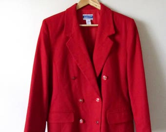70s Pendleton Double Breasted 100% Wool Red Coat