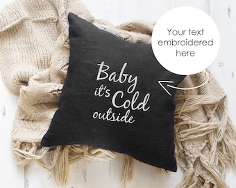 DecorHouzz Personalised Embroidered Burlap Pillow Cover Pillow Cases  Decorative Pillow Custom Name Cushion Throw Pillow Handmade - N0Z5VFTJ4