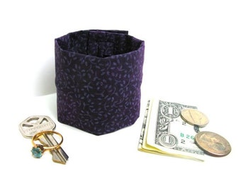 "Money Wrist Cuff - ""Secret Stash""  Violet-  -Hide Your Cash,key, jewels, health info  in an Inside hidden  zipper"
