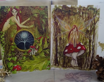 Woodland Card pack of 2 A5 Art Cards