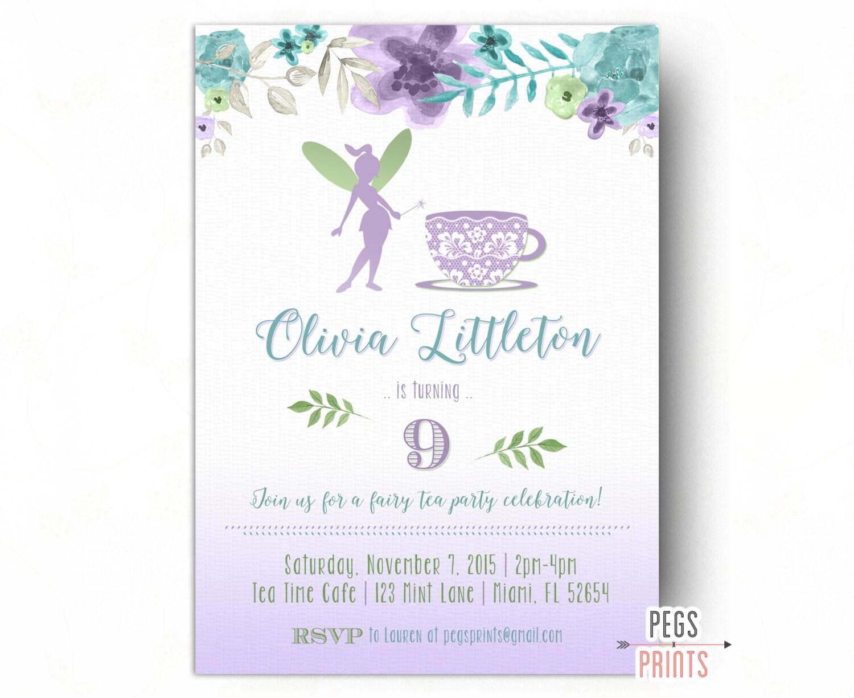 Magnificent Fairy Tea Party Invitations Image - Invitation Card ...