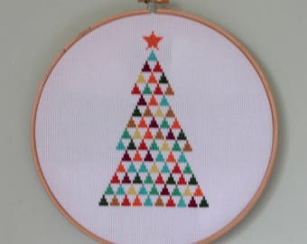 Modern Christmas Tree Cross Stitch Pattern PDF ** Instant Download **