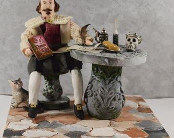 William Shakespeare Miniature Diorama Scene Classic Literature English Author