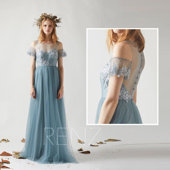 Dusty Blue Gown