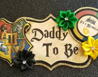 Hogwarts Themed Daddy To Be Baby Shower Corsage