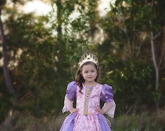 Rapunzel Dress / Inspired Disney Princess Dress Tangled Costume - Kids, Girls, Toddler, Child