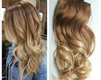 """16"""" 100g SYN Magic-HALO Secret-wire Ombre hair extensions."""