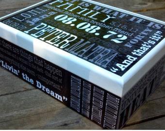 Personalized Keepsake Box // Unique Box for Men// Grandfather Gift Box//Unique Memory Box// Time Capsule