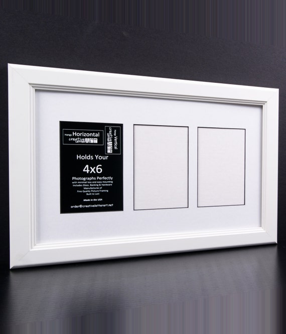 4x6 Multiple 3 4 5 6 7 8 9 10 Opening White Picture Frame with