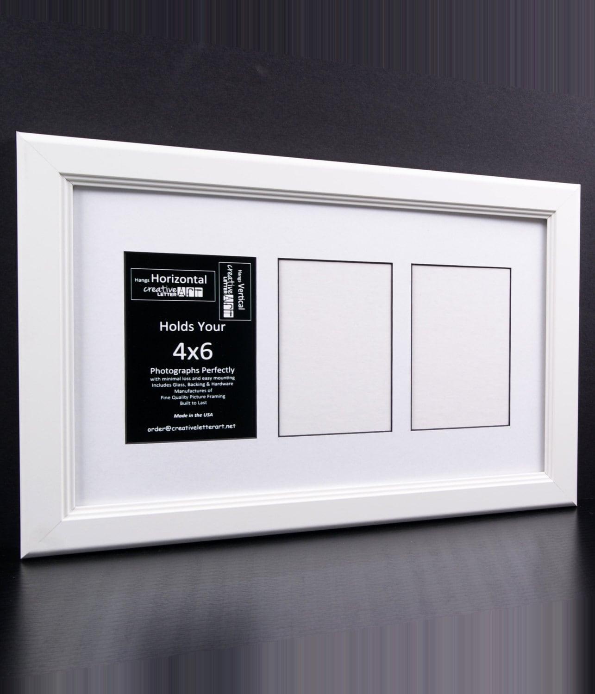 4 x 6 mehrere 3 4 5 6 7 8 9 10 Öffnung weißen Bilderrahmen mit Passepartout, Multi-Öffnung-Foto-Rahmen-Collage
