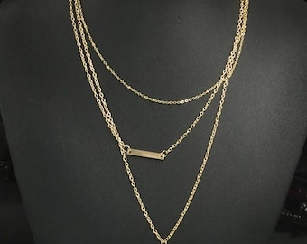 Layered gold necklace 3 layered necklace coin delicate chain lengths necklace latest trend necklace