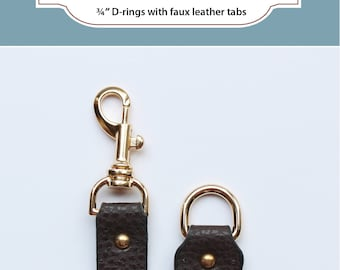 Swivel Hook & D-Ring with Tabs