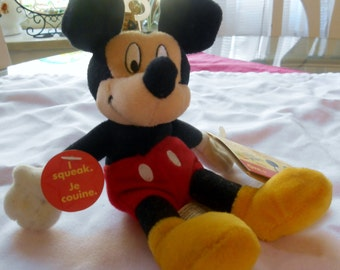 Vintage  Disney's Mickey Mouse My First Rattling Friend Doll NWT