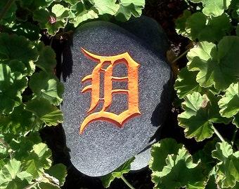 Garden Stone with Sports Team Logo