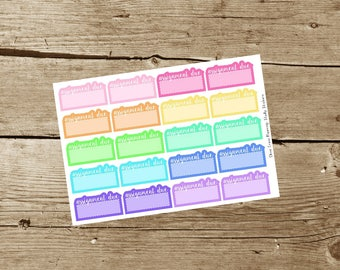 Assignment Due Planner Stickers