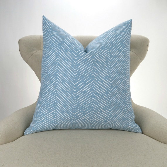 blue pillow cover many sizes powder blue and white euro. Black Bedroom Furniture Sets. Home Design Ideas