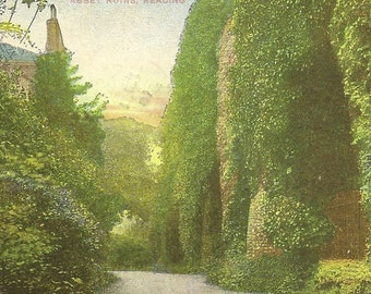 Abbey Ruins READING UK Antique Postcard 1910 Jamestown Ontario Split Ring Cancel – Historic Site GDD Gottschalk Dreyfuss and Davis Publisher