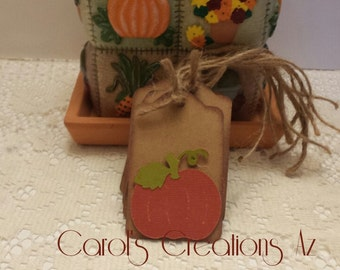 Thanksgiving Tags / Harvest Tags / Pumpkin Tags /  Fall Gift Tags /  Thanksgiving Gift Tags / Harvest Gift Tags / Set of 5 Tags