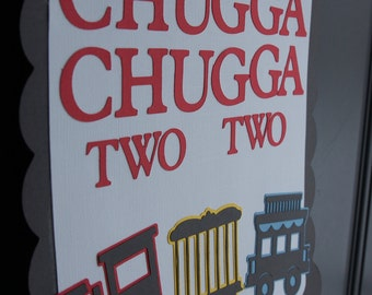 Train Door Sign, Train Party, Train Party Supplies, Choo Choo, All Aboard, Happy Birthday, Chugga Chugga Two Two