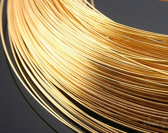 E293-0.5mm  Soft Type Wire- 40M -Luster Gold Plated