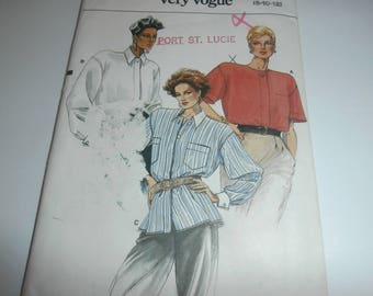 Vogue Sewing Pattern 9352 Woman's Tops Size 8-12