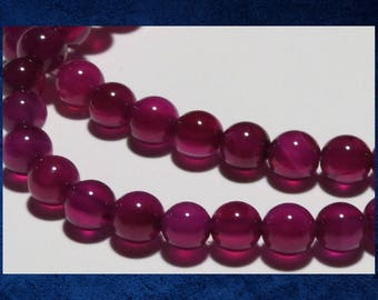 """Agate, Purple - 15"""" strand of 6mm round ball. Approx 60 gemstone stone beads. #AGAT-403"""