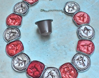 what else the Choker. Red and pink metal silver