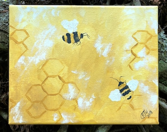 Life is Sweet, Honeycomb, Abstract Bees, Bumblebees, Bees and Honeycomb