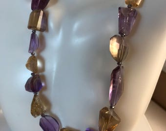 Lush in Amethyst and Citrine Necklace