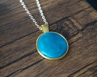 Blue Earth Stone Necklace