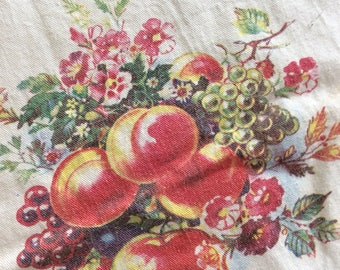 1940's Fruit Topper Tablecloth