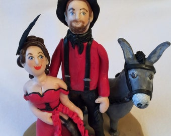 Vow renewal cake topper, wedding cake topper,polymer clay topper,polymer clay figurine, couple cake topper.  Wedding, couple, sculpture