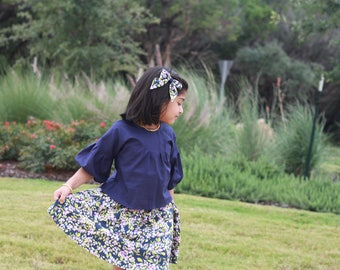 Storybook:  Dress and top with pin tucks pdf pattern sizes 1/2-12