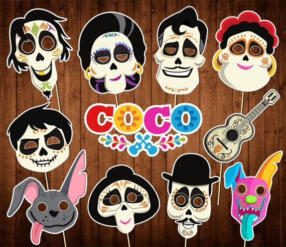 Disney Coco Photo Booth Props Instant Download Day Of The