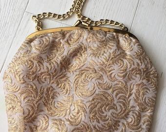Sparkle gold 50's evening purse