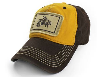 Everyday Ballcap, Unstructured, Honey Bee, Yellow and Brown