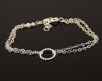 Karma bracelet. Simple bracelet. Sterling silver bracelet. Dainty bracelet